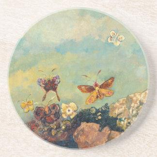 Odilon Redon Butterflies Vintage Symbolism Art Coaster