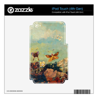 Odilon Redon Butterflies Vintage Symbolism Art Decal For iPod Touch 4G