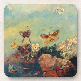 Odilon Redon Butterflies Vintage Symbolism Art Drink Coaster
