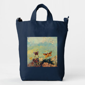 Odilon Redon Butterflies Vintage Symbolism Art Duck Canvas Bag