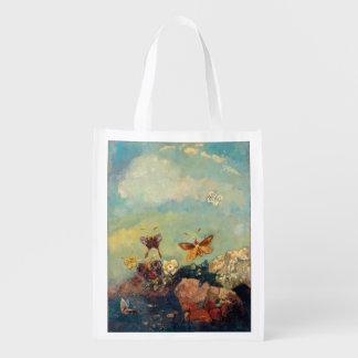 Odilon Redon Butterflies Vintage Symbolism Art Grocery Bags