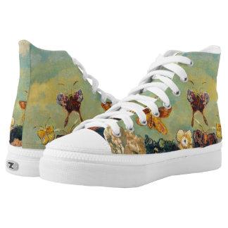 Odilon Redon Butterflies Vintage Symbolism Art High-Top Sneakers