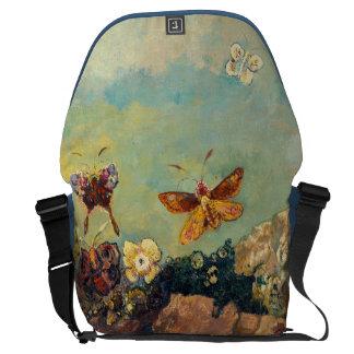 Odilon Redon Butterflies Vintage Symbolism Art Messenger Bag