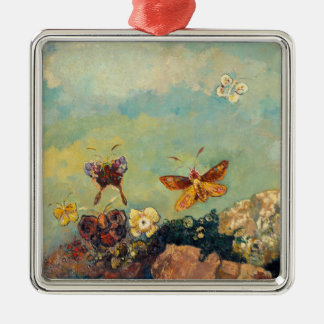 Odilon Redon Butterflies Vintage Symbolism Art Metal Ornament