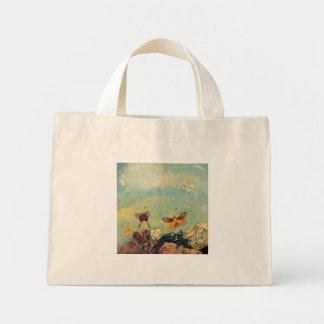 Odilon Redon Butterflies Vintage Symbolism Art Mini Tote Bag