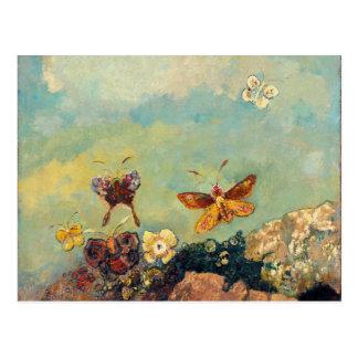 Odilon Redon Butterflies Vintage Symbolism Art Postcard