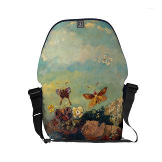 Odilon Redon Butterflies Vintage Symbolism Art Small Messenger Bag