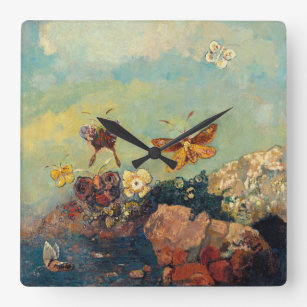 Odilon Redon Flower Wall Clocks | Zazzle