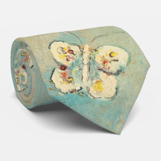 Odilon Redon Butterflies Vintage Symbolism Art Tie