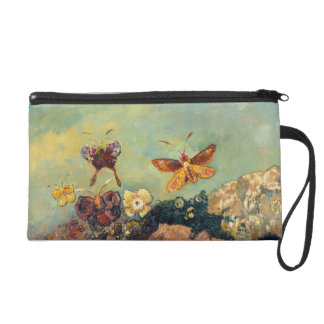 Odilon Redon Butterflies Vintage Symbolism Art Wristlet Clutch