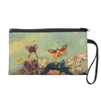 Odilon Redon Butterflies Vintage Symbolism Art Wristlet Purse