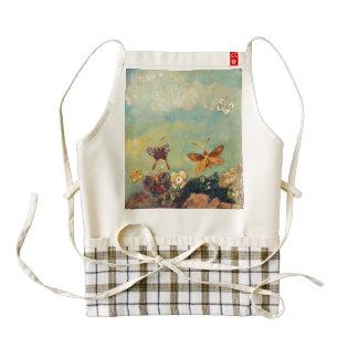 Odilon Redon Butterflies Vintage Symbolism Art Zazzle HEART Apron
