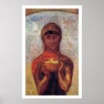 Odilon Redon - Chalice of Mystery - Spiritual Art Poster