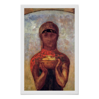 Odilon Redon - Chalice of Mystery - Spiritual Art Poster