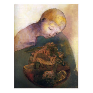 Odilon Redon-Cup of cognition (The Children's Cup) Postcard