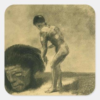 Odilon Redon- David and Goliath Stickers