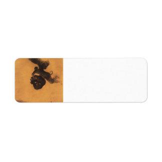 Odilon Redon- Devil take a head in the air Custom Return Address Labels
