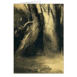 Odilon Redon- dos árboles Tarjeta