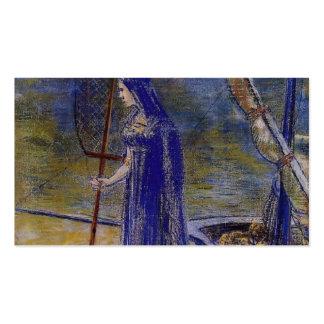 Odilon Redon- el Fisherwoman Plantillas De Tarjeta De Negocio