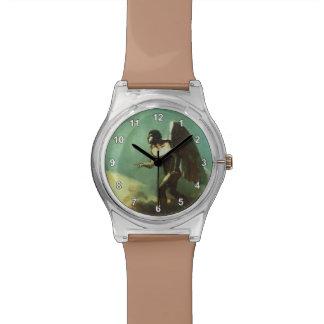 Odilon Redon- el hombre con alas (el ángel caido) Reloj De Mano