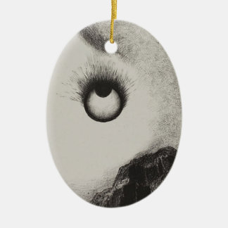 Odilon Redon- Everywhere eyeballs are aflame Christmas Ornaments