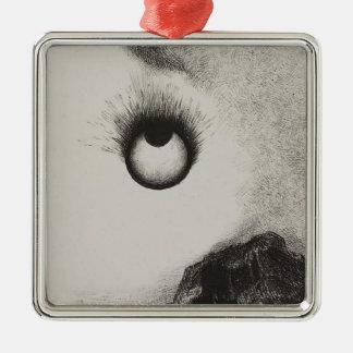 Odilon Redon- Everywhere eyeballs are aflame Christmas Tree Ornaments