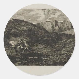 Odilon Redon- Fear Stickers