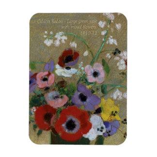 Odilon Redon Flowers CC0551 Fridge Art Collection Magnet