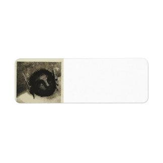 Odilon Redon- Gnome Return Address Label