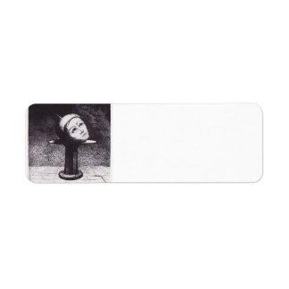 Odilon Redon- In the section Return Address Label
