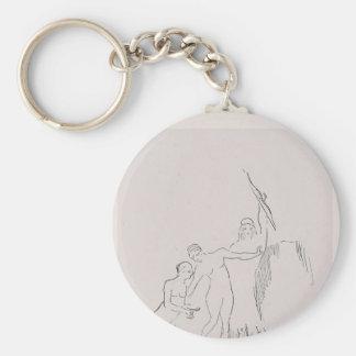 Odilon Redon- inmediatamente tres diosas se presen Llavero