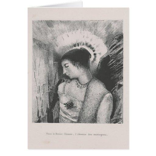 Odilon Redon- la madre de Idaean de las montañas Tarjeta De Felicitación