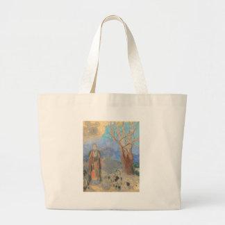 Odilon Redon: Le Bouddha, The Buddha Large Tote Bag