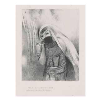 Odilon Redon- She draws from her bosom Postcard