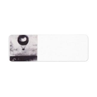 Odilon Redon- The eye like a strange balloon Custom Return Address Label