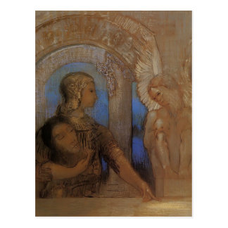 Odilon Redon- The Mystical Knight (Oedipus,Sphinx) Postcard