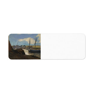 Odilon Redon- The Port of Morgat Return Address Labels