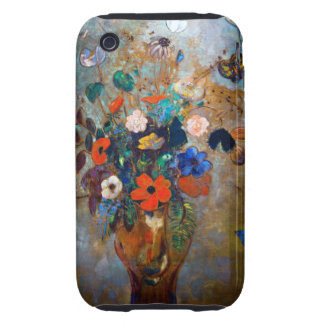 Odilon Redon - Vase with Flowers and Butterflies Tough iPhone 3 Cover