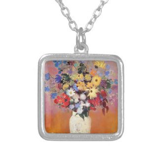 Odilon Redon- White Vase with Flowers Jewelry