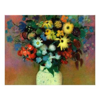 "Odilon Redon's Vase with Flowers (1914) 8.5"" X 11"" Flyer"