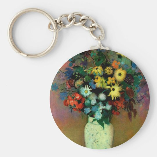 Odilon Redon's Vase with Flowers (1914) Keychain