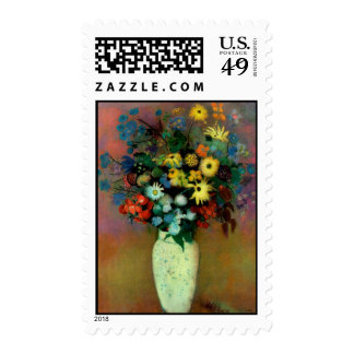 Odilon Redon's Vase with Flowers (1914) Postage Stamps