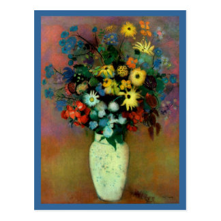 Odilon Redon's Vase with Flowers (1914) Postcard