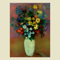 Odilon Redon Vase with Flowers