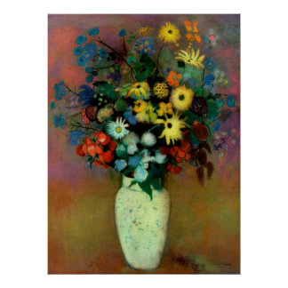 Odilon Redon's Vase with Flowers (1914) Poster