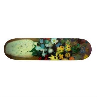 Odilon Redon's Vase with Flowers (1914) Skateboard