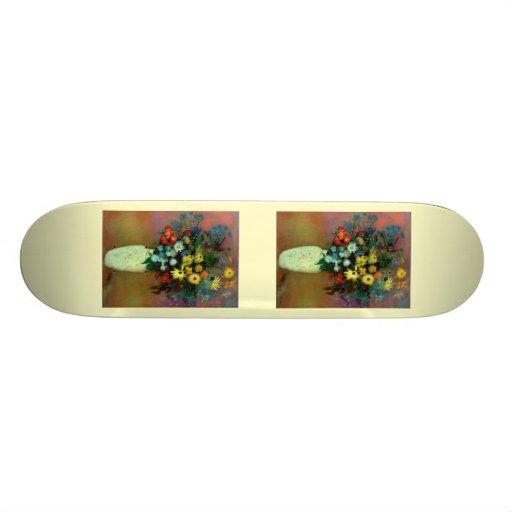 Odilon Redon's Vase with Flowers (1914) Skateboards
