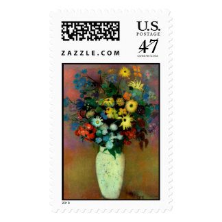 Odilon Redon's Vase with Flowers (1914) Stamp