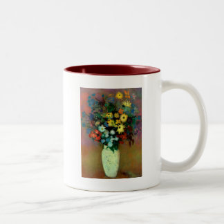 Odilon Redon's Vase with Flowers (1914) Two-Tone Coffee Mug
