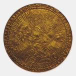 Odin Bracteate Classic Round Sticker
